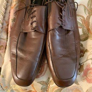 Bruno Magli Rammola Brown Leather Shoes